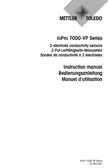 inpro acirc reg sensor series transmitter trb d mettler toledo inpro 7000 vp series instruction manual mettler toledo