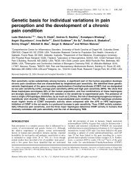 Genetic basis for individual variations in pain perception and the ...