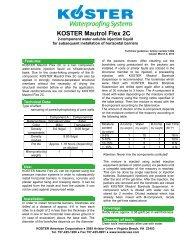 KOSTER Mautrol Flex 2C - KOSTER American Corporation