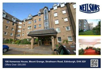 108 Homeross House, Mount Grange, Strathearn Road, Edinburgh ...