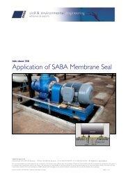 Aanbrengen SABA Membrane Seal