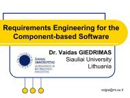 Requirements Engineering for the Component-based ... - tud.ttu.ee