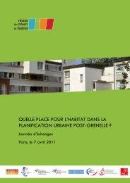 quelle place pour l'habitat dans la palnification urbaine ... - Accueil