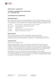 CV der Referentinnen und Referenten