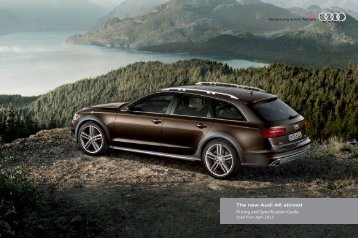 The new Audi A6 allroad Pricing and ... - Audi on Demand