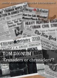 Tom Dignum (pdf) - Jonge Historici Schrijven Geschiedenis