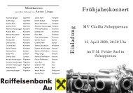 E in lad u n g Frühjahrskonzert - bregenzerwald-news.at