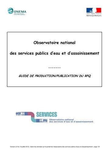 Comment produire et publier votre RPQS - Services