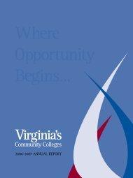 2006-2007 AnnuAl RepoRt - Virginia Community College System
