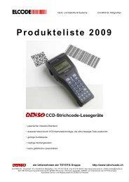 Produkte - Preisliste 2006 - ELCODE AG