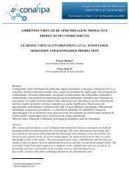 ambientes virtuais de aprendizagem - Universidade Federal de ...