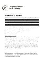 Advies externe veiligheid - Gemeente Teylingen