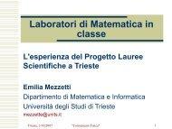 Progetto Lauree scientifiche - Comunicare Fisica