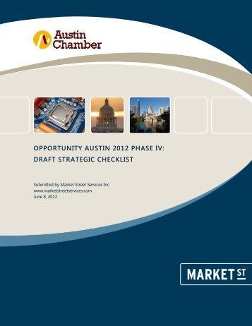 Strategic Checklist - The Greater Austin Chamber of Commerce