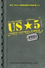 Pcs Us5 Manual - Paintball Solutions