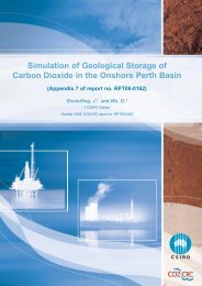 Simulation of Geological Storage of Carbon Dioxide in ... - CO2CRC
