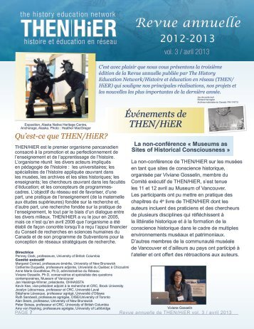 Revue annuelle 2012-2013 - The History Education Network