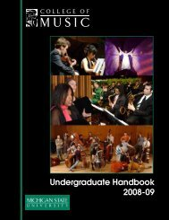 2008-09 - MSU College of Music - Michigan State University