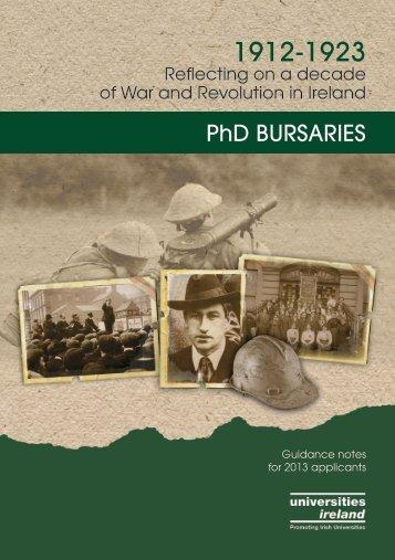 Download the PhD Bursary Flyer - Universities Ireland