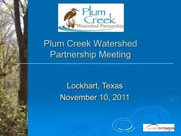 Plum Creek Watershed Partnership Meeting