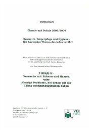 Kosmetik, Körperpflege und Hygiene - - VCI Nord