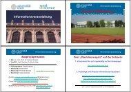 Informationsveranstaltung - Studienangebote - Universität Wien