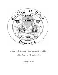 The City of Dover Personnel Policy - Team-Logic