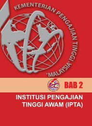 INSTITUSI PENGAJIAN TINGGI AWAM (IPTA) - Kementerian ...