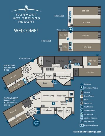 Lodge Map - Fairmont Hot Springs Resort