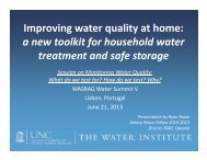 Improving water quality at home: a new toolkit for ... - GreenNexxus