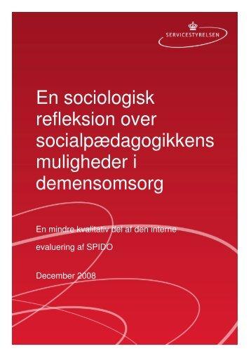 En sociologisk refleksion over ... - Socialstyrelsen