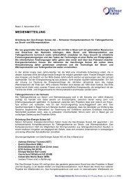 Gründung der Geo-Energie Suisse AG