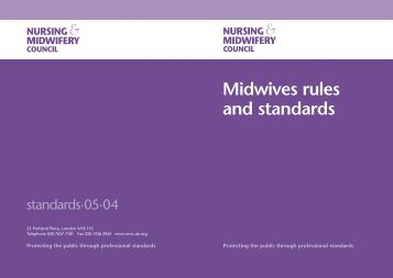 Midwives Rules and Standards - NHS East Midlands