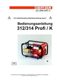 Bedienungsanleitung 312/314 Profi / K - von Oertzen GmbH
