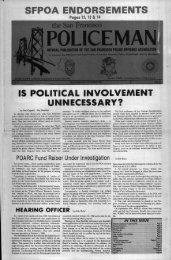 October 1980 - San Francisco Police Officers Association