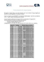 Corso intensivo di lingua inglese - Centro Linguistico d'Ateneo