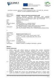 Smlouva o dílo - Veřejné zakázky - Cesnet