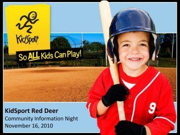 KidSport Red Deer