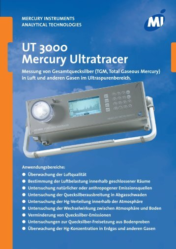 UT 3000 Mercury Ultratracer - Mercury Instruments