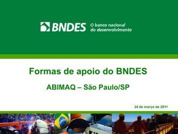 Cartão BNDES - Abimaq