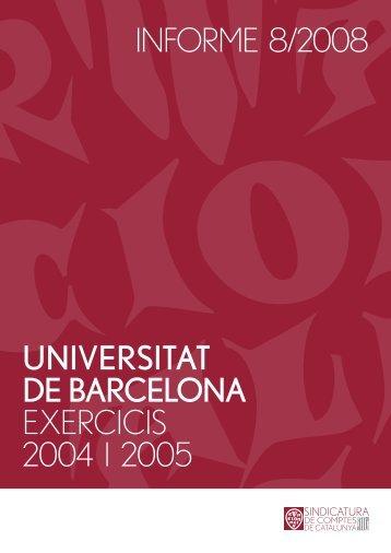 Informe 8/2008 - Generalitat de Catalunya