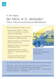 01TA402011 Fahrer im 21 Jahrhundert.indd - VDI-Wissensforum