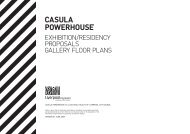 CASULA POWERHOUSE GALLERY FLOOR PLANS