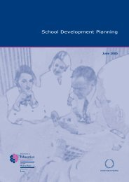 School Development Planning - Department of Education Northern ...