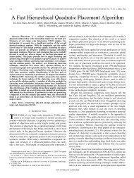 A Fast Hierarchical Quadratic Placement Algorithm - UCSD VLSI ...