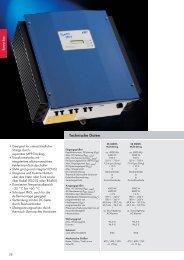 Technische Daten - BAU-KO Solar