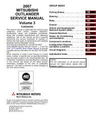 2007 MITSUBISHI OUTLANDER SERVICE MANUAL Volume 3 - Outlander-Forum