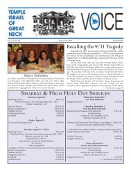 August 22 - Temple Israel of Great Neck