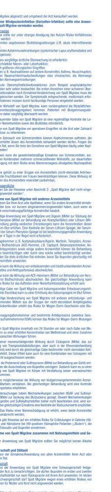 GEBRAUCHSINFORMATION: INFORMATION FÜR DEN ... - Spalt