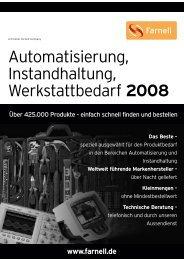Automatisierung, Instandhaltung, Werkstattbedarf 2008 - Farnell